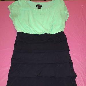 Dressy aqua dress